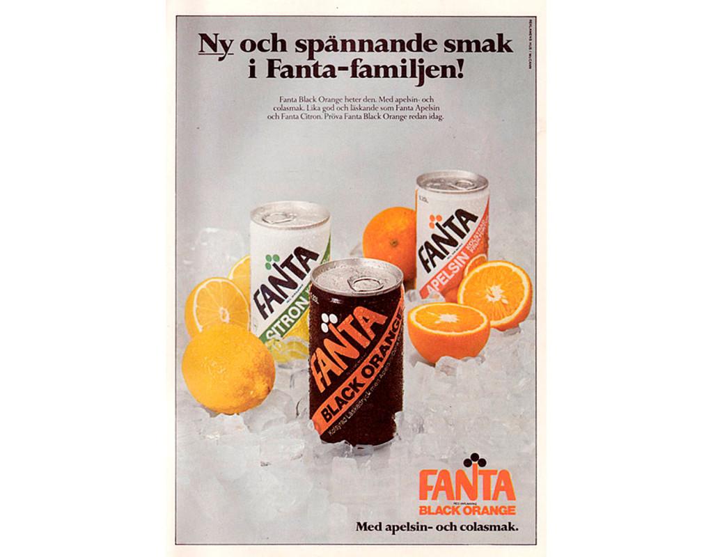 Läsken Blackorange (blandning mellan Coca-cola och Fanta)