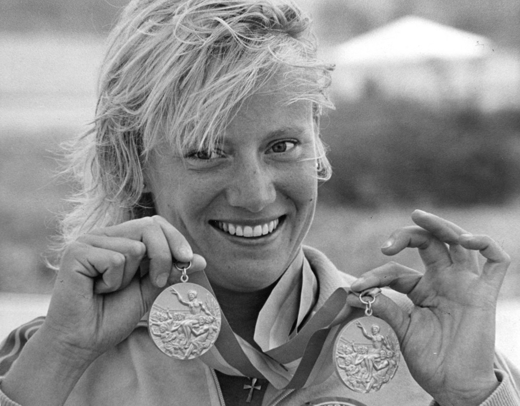 Agneta Andersson (1961), kanot. Två guld och ett silver i OS 1984. Ett silver, två brons VM 1981, ett silver och ett brons VM 1982, ett brons i VM 1983 och 1985.Foto: Göran Strandberg