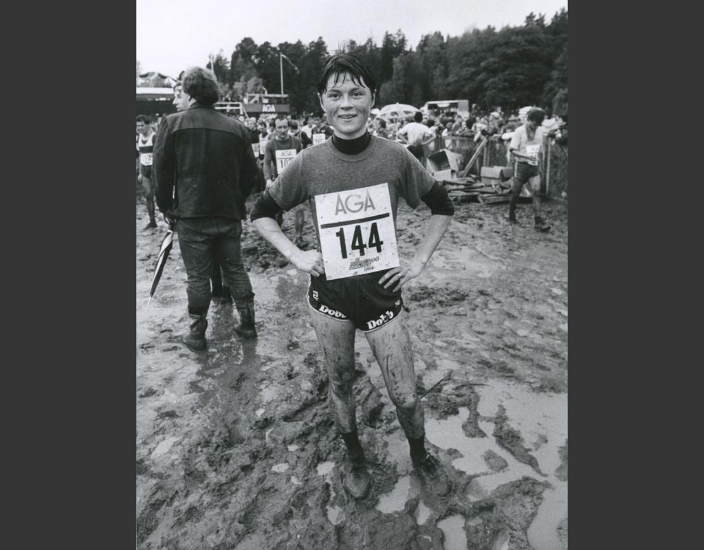 Annichen Kringstad (1960), Sverige, orientering. Världsmästare sex gånger (individuellt och stafett) 1981, 1983, 1985. Sveriges genom tiderna mest framgångsrika orienterare. Vann SM 14 gånger. Foto: Lasse Hedberg