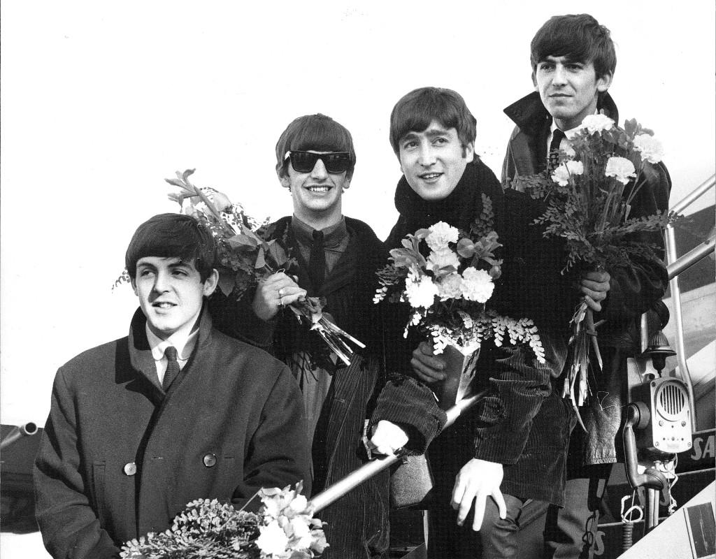 The Beatles kom till Sverige 1964. Från vänster Paul McCartney, Ringo Starr, John Lennon och George Harrison. Foto: LENNART HALVARSSON