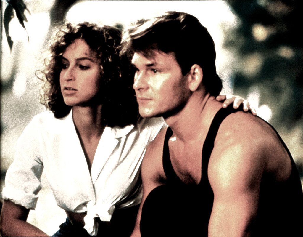 Jennifer Grey och Patrick Swayze under inspelningen av Dirty Dancing (1987).