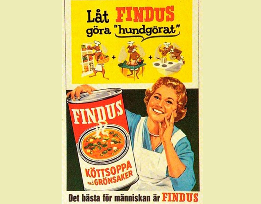 1948 kom burksoppa, från Findus.