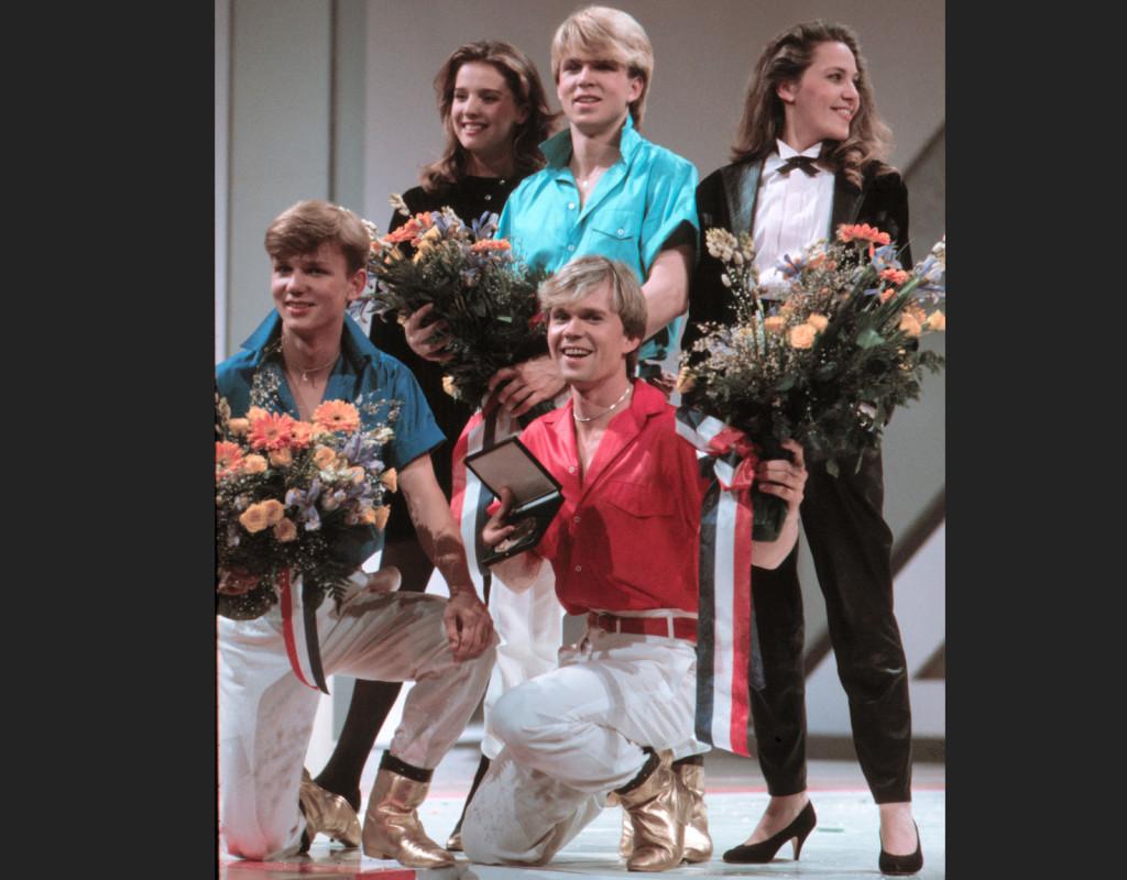 """1984 vinner bröderna Herreys Eurovision med låten """"Gyllene skor"""".  Foto: JOHNNY ZAAR"""
