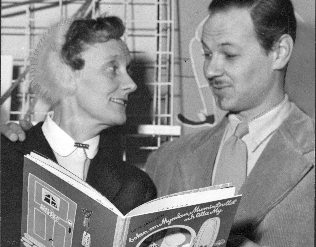Författarna Astrid Lindgren och Lennart Hellsing.