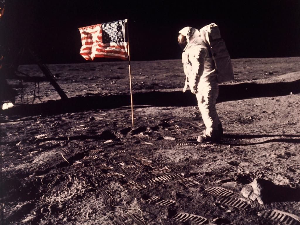 Månlandningen 1969 blev en milstolpe för mänskligheten. Här syns astronauten Edwin E Aldrin. Foto: AP TT NYHETSBYRÅ