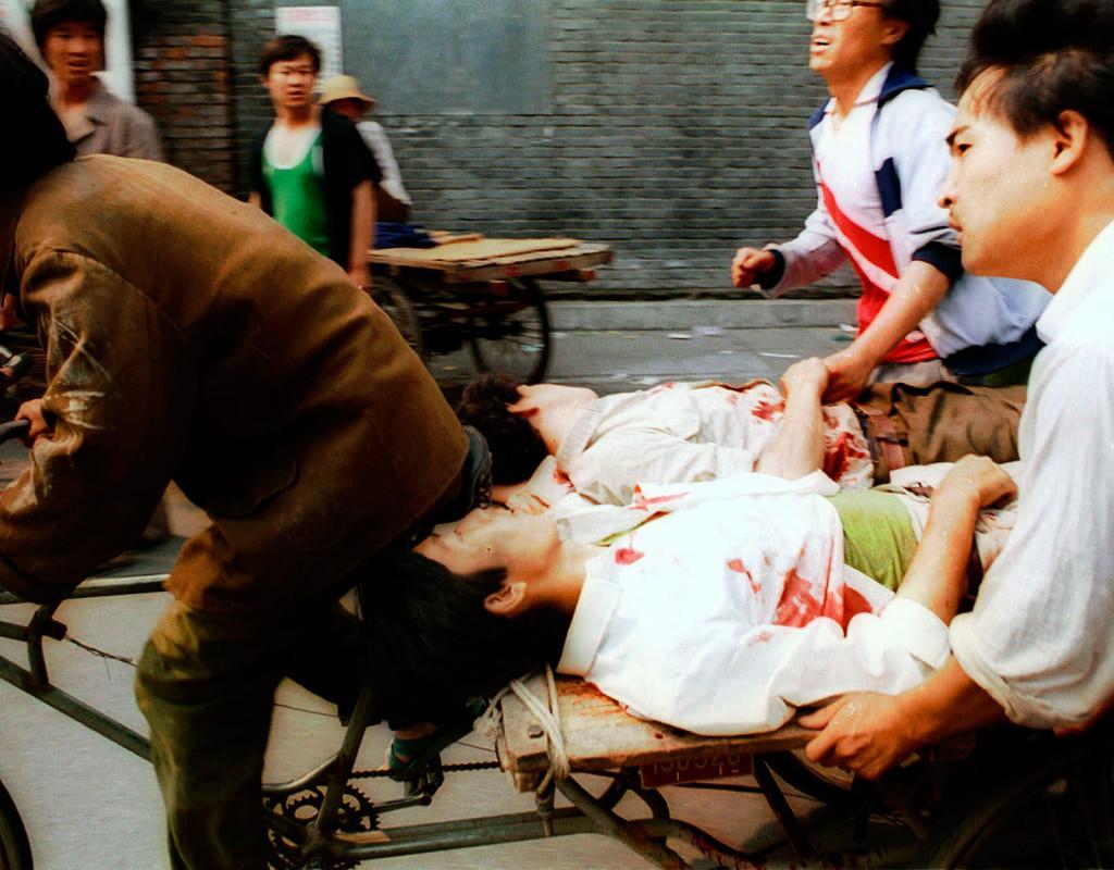 Blodbadet i Peking dödade 500. Massakern på Himmelska Fridens Torg i Peking, inträffade den 4 juni, 1989.  Foto: AFTONBLADET