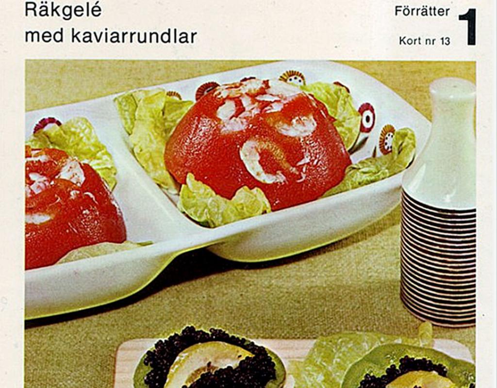 Räkgelé med kaviar