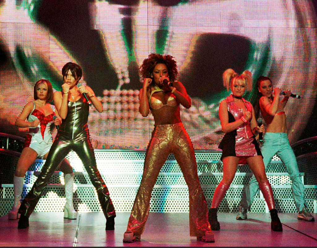 Popgruppen Spice girls var trendsättande.